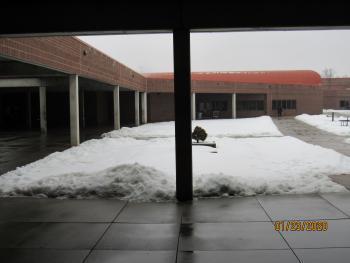 OCC yard in snow