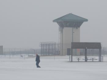 TSCI teammate walking in snow