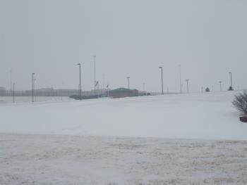 TSCI building in snow