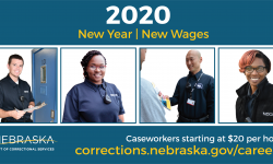 Pictures of caseworkers in a row smiling